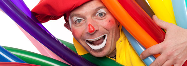 Balloon artist Sascha, the clown for (small and big) children