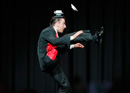 Silvio Sotirov and his acrobatic comedy show